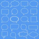 Set speech bubbles cloud shape Royalty Free Stock Images