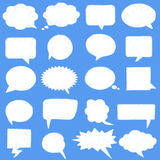 Set speech bubbles cloud shape Stock Images