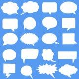 Set speech bubbles cloud shape Stock Images