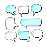 Set of speech bubbles. Speech Bubbles. Collection of speech bubble frames Stock Images