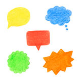 Set of speech bubbles. Royalty Free Stock Images