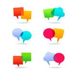 Set of speech bubbles. Set of colorfull speech bubbles Stock Photography