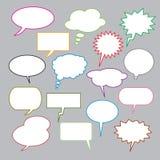 Set of  speech bubbles for comics. Stock Photo