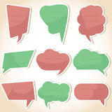 Set of speech bubbles and dialog balloons Royalty Free Stock Photos