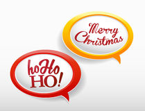 Set of speech bubbles with Ho ho ho Royalty Free Stock Photo