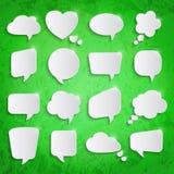 Set of speech bubbles Stock Photo