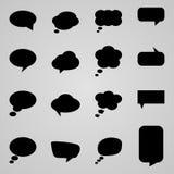 Set of Speech bubbles,  illustration. Collection of Speech bubbles,  illustration Royalty Free Stock Images
