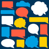 Set of speech bubbles. Stock Image