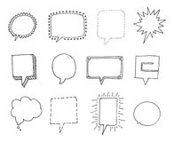 Set of Speech bubbles with personality Stock Images
