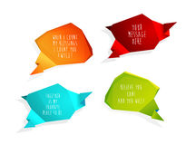 Set of speech bubbles with place for your text. Set of speech bubbles with place for your own text or using slogans Royalty Free Stock Photo