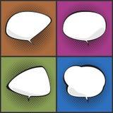 Set of Speech Bubbles on Pop Art Background Stock Image