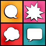 Set of speech bubbles in pop art style Royalty Free Stock Photos