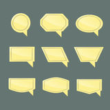 Set of speech bubbles. With space for text stock illustration