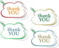 Set of speech bubbles - thank you Stock Photography