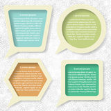 Set of speech bubbles. Set of vintage bubbles for your business Stock Photography