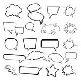 Set of the speech bubbles on white background. Royalty Free Stock Photos