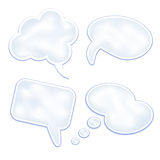 Set of speech clouds and bubbles Royalty Free Stock Photography