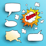 Set of speech comic bubbles. Comic sound effect. Vector illustration Royalty Free Stock Images