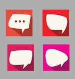 Set of speech  flat design style Royalty Free Stock Image