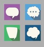 Set of speech  flat design style Stock Images