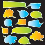 Set of speech and thought blobs Stock Photography