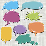 Set of speech and thought blobs Royalty Free Stock Images