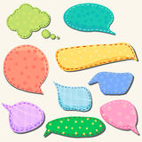 Set of speech and thought blobs Royalty Free Stock Image