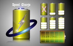 Set of speed charge battery alkaline Stock Photography