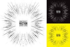 Set speed line. Festive illustration with effect power explosion. Element of design. Vector. Illustration Stock Photos