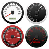 Set of speedometer Stock Photos