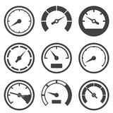 Set of speedometers and dashboard devices Royalty Free Stock Photo
