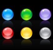 set sphere för glass highquality 3d Royaltyfria Bilder