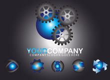 Set sphere logo design Royalty Free Stock Photos