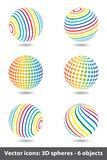 Set of sphere rainbow icons Royalty Free Stock Images