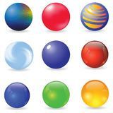 Set of spheres Royalty Free Stock Photography
