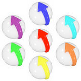Set of spheres Stock Photo