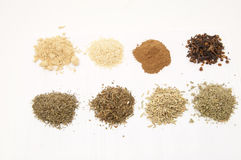 Set of spices Stock Image