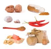 Set of spices Stock Photos
