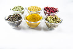 Set of spices in glass Royalty Free Stock Photo