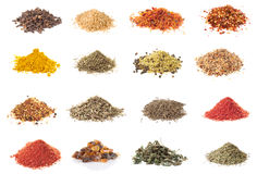 Set of spices isolated on white Stock Image