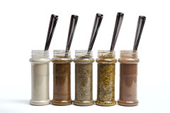 Set of spices in jars Royalty Free Stock Image
