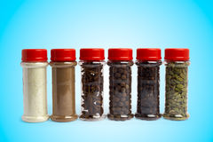 Set of spices in jars Royalty Free Stock Images