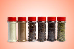 Set of spices in jars Stock Image
