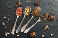 Set of spices Stock Photo