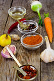 Set of Spices and Vegetables For Soup Making stock photography