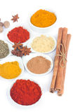 Set of spices on white Royalty Free Stock Image