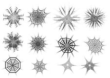 Set of spider web. Vector illustration Stock Images