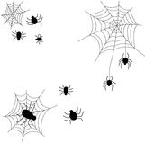 Set of spider web of twine for Halloween Stock Photography