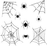 Set of spiders Stock Images