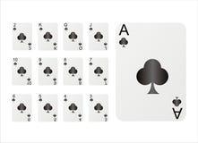 Set Spielkarten Lizenzfreie Stockfotografie